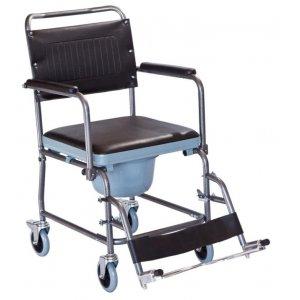 Αναπηρικό Αμαξίδιο Εσωτερικού Χώρου με Πτυσσόμενα Πλαϊνά, Αποσπώμενα Υποπόδια και Δοχείο Τουαλέτας - 0806053