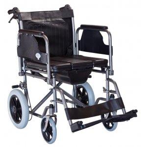 Αναπηρικό Αμαξίδιο Εσωτερικού Χώρου με Αφαιρούμενα Πλαϊνά και Υποπόδια και Δοχείο Τουαλέτας - 0807985