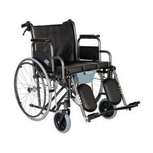 Αναπηρικό Αμαξίδιο III Με Μεγάλους Συμπαγείς Πισινούς και Ενισχυμένους Μπροστινούς Τροχούς, με Πτυσσσόμενα Πλαϊνά, Ανυψούμενα Υποπόδια και Δοχείο Τουαλέτας - 0808367