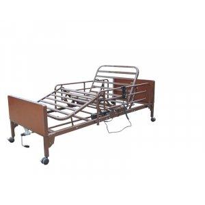 Νοσοκομειακό Ημι-Ηλεκτρικό Κρεβάτι Πολύσπαστο με πλαϊνά και ρόδες - 0808471 - Σε 12 άτοκες δόσεις