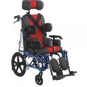 Αναπηρικό Αμαξίδιο Τετραπληγίας, Αλουμινίου, με Μεσαίους Συμπαγείς Τροχούς, Ανυψούμενα και Αποσπώμενα Υποπόδια, Πτυσσόμενα Πλαϊνά, Αναπαυτικό Κάθισμα - 0808505