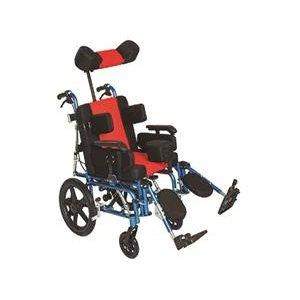 Αναπηρικό Αμαξίδιο Τετραπληγίας, Αλουμινίου, με Μεσαίους Συμπαγείς Τροχούς, Ανυψούμενα και Αποσπώμενα Υποπόδια, Πτυσσόμενα Πλαϊνά, Αναπαυτικό Κάθισμα - 0808612