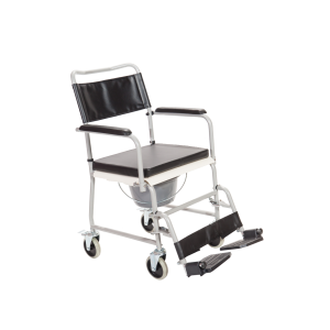 Αναπηρικό Αμαξίδιο Εσωτερικού Χώρου με Πτυσσόμενα Πλαϊνά, Αποσπώμενα Υποπόδια και Δοχείο Τουαλέτας - 0810120