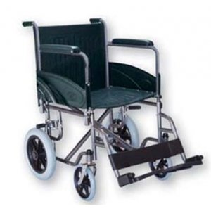 Αναπηρικό Αμαξίδιο Basic IV με Μεσαίους Συμπαγείς Τροχούς, Σταθερά Πλαϊνά και Υποπόδια - 0810170