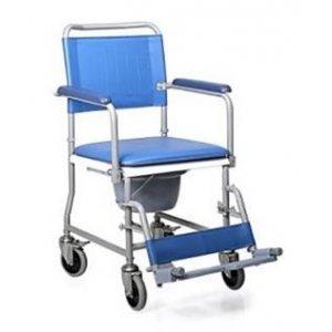 Αναπηρικό Αμαξίδιο Εσωτερικού Χώρου με Πτυσσόμενα Πλαϊνά, Αποσπώμενα Υποπόδια και Δοχείο Τουαλέτας - 0810787