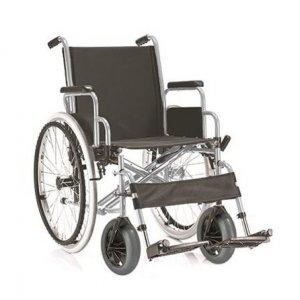 Αναπηρικό Αμαξίδιο Gemini Στενό 24' 43cm - Πτυσσόμενο με Μεγάλους Συμπαγείς Πισινούς και Ενισχυμένους Μπροστινούς Τροχούς, με Πτυσσόμενα Πλαϊνά και Αποσπώμενα Υποπόδια - 0811301
