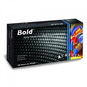 Γάντια Νιτριλίου Εξεταστικά Μαύρα Χωρίς Πούδρα Aurelia® Bold™  - 100τμχ