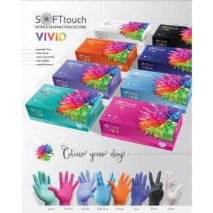 Soft Touch Vivid Γάντια Νιτριλίου 100τεμ- Σε 12 άτοκες δόσεις