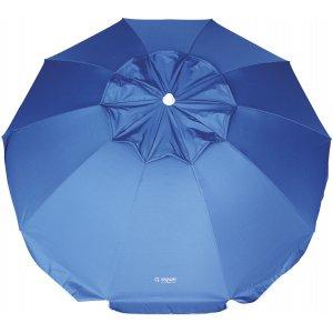 Ομπρέλα Παραλίας με Άνοιγμα 2m Μπλε, με Αντιηλιακή Επένδυση, Αεραγωγό και Σπαστό Ιστό 2 Μερών - 12039
