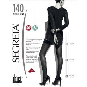 Κάλτσες Ριζομηρίου με Σιλικόνη Μέτριας Συμπίεσης 18-22 mmHg Segreta Autoreggente 140Den Ibici