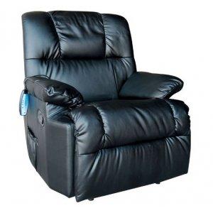 Πολυθρόνα Relax- Μασάζ με χειροκίνητη ανάκλιση Μαύρη