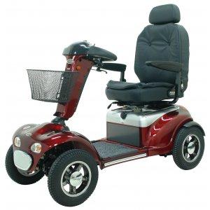Αμαξίδιο Scooter Dakar, με Περιστρεφόμενο Deluxe Κάθισμα, Ρυθμιζόμενη Πλάτη, Πτυσσόμενη Τιμόνι και Πλήρες Πακέτο Φωτισμού - 0811104 - Σε 12 άτοκες δόσεις