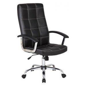 Πολυθρόνα Γραφείου Διευθυντική Μαύρη - 64x55x103/113cm - 66-20057