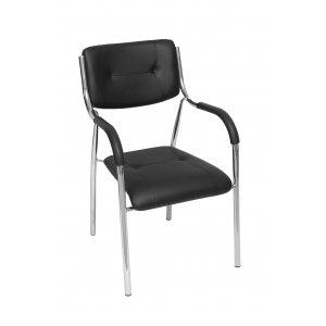 Κάθισμα Επισκέπτη Μαύρο - 49x45x85cm - 66-22280