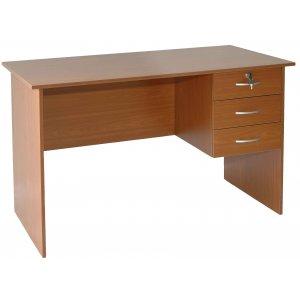Γραφείο με Τρία Συρτάρια & Κλειδί  - L120xW60xH73cm - 60-08468