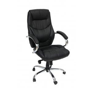 Πολυθρόνα Γραφείου Διευθυντική Μαύρη - 65x55x115/120cm - 66-22372