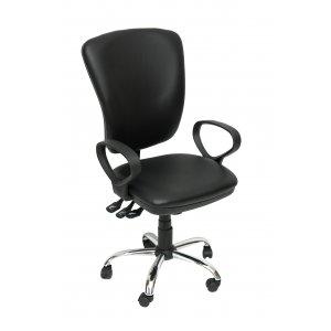 Καρέκλα Γραφείου Μαύρη - 60x50x100/110cm - 66-22396