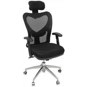 Καρέκλα Γραφείου Μαύρη - 60x50x115/125cm - 66-22419