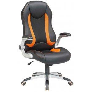 Καρέκλα Γραφείου Μαύρη - Πορτοκαλί - 67x68x110/118cm - 66-23553