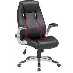 Καρέκλα Γραφείου Μαύρο - Μπορντό - 65x69x108/117cm - 66-23560