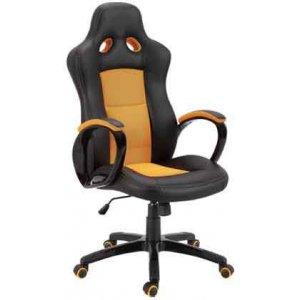 Καρέκλα Γραφείου Μαύρο - Πορτοκαλί - 67x65x110/118cm - 66-23577