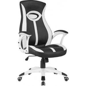 Καρέκλα Γραφείου Μαύρο - Λευκό - 67x68x112/120cm - 66-23584
