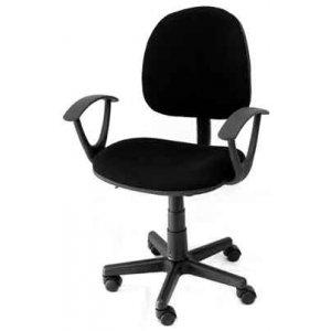 Καρέκλα Γραφείου Μαύρη με Μπράτσα - W60xD41xH82/93cm - Κ08642-1