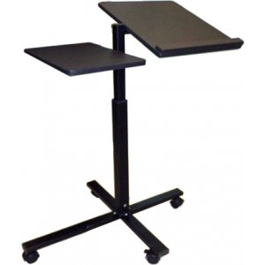 Γραφείο για Laptop Μαύρο Ρυθμιζόμενο με Δυο Θέσεις - 59-13882