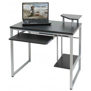 Γραφείο Computer Μεταλλικό Μαύρη Μελαμίνη PB 25/15mm - 85x55x76cm - 59-23638
