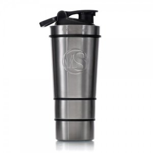 SHAKER 600ml By METALSHAKE - Silver Steel