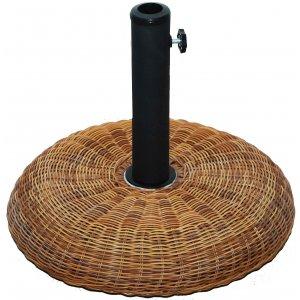 Βάση Ομπρέλας Τσιμεντένια Στρογγυλή με Όψη Μπαμπού 20kg - 381-4988
