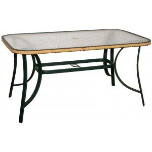 Τραπέζι Αλουμινίου Κήπου με Γυαλί - L140xW75xH71cm