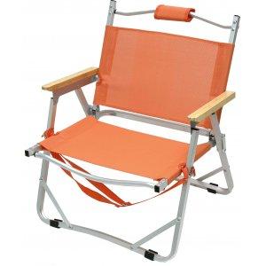 Καρέκλα Παραλίας Αλουμινίου με Text 2Χ1 - Ξύλινα Μπαμπού Μπράτσα - Χερούλι Μεταφοράς