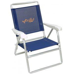 Καρέκλα Παραλίας Αλουμινίου Ενισχυμένη - King Size με Ψηλή Πλάτη - Τext 2*1