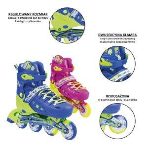 Αυξομειούμενα Πατίνια Roller NA 1005A Inline Skates Nils Extreme