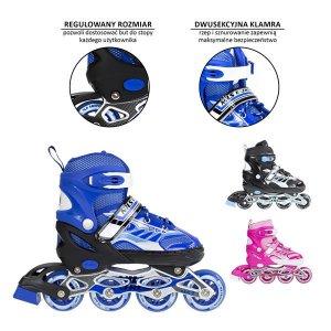Αυξομειούμενα Πατίνια Roller NJ 1828 A Inline Skates Nils Extreme