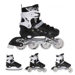 Αυξομειούμενα Πατίνια Roller NH 10905 Σετ 4 σε 1 Inline Skates Nils Extreme