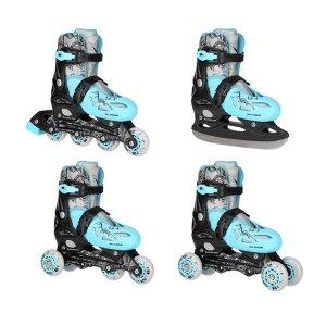 Αυξομειούμενα Πατίνια Roller Inline/Ice-Skates Nils Extreme NH0320A 4 ΣΕ 1
