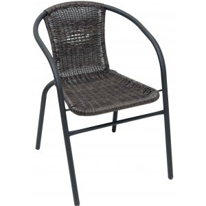 Καρέκλα Ανθρακί Μεταλλική Wicker