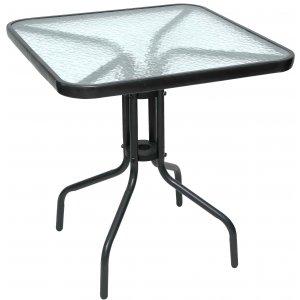 Τραπέζι Ανθρακί Μεταλλικό Τετράγωνο - L70xW70xH72cm