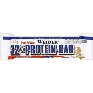 Μπάρα Προτεΐνης 32% Φράουλα 60gr - 24 τμχ