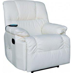 Πολυθρόνα Relax- Μασάζ με χειροκίνητη ανάκλιση Εκρού 88x89x99cm