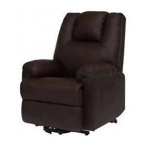 Πολυθρόνα Relax-Massage θερμαινόμενη με ηλεκτρική ανάκλιση AR17 Σκούρο Καφέ - Σε 12 άτοκες δόσεις