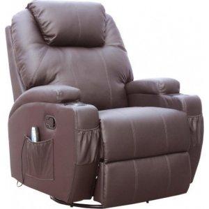 Πολυθρόνα Relax-massage κουνιστή θερμαινόμενη με περιστροφή JOEY Καφέ 84cm*92cm*109cm - Σε 12 άτοκες δόσεις
