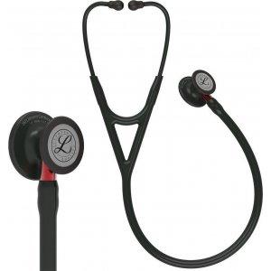 Στηθοσκόπιο 3M™ Littmann® Cardiology IV™ Black & Black Finish Red Stem 6200