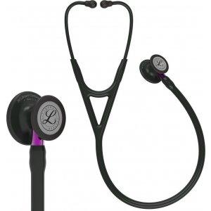 Στηθοσκόπιο 3M™ Littmann® Cardiology IV™ 6203 Black & Black Finish Violet Stem