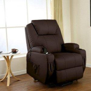 Πολυθρόνα Relax με ηλεκτρική ανάκλιση AR08 Καφέ - Σε 12 άτοκες δόσεις