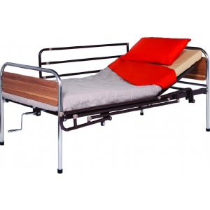 Κρεβάτι Μονό Νοσοκομειακού Τύπου με Ξύλινες Λεπτομέρειες One Piece - 0810058 - Σε 12 άτοκες Δόσεις