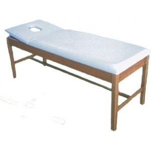 Εξεταστικό Κρεβάτι Ξύλινο Με Ίσιο Προσκέφαλο Με Οπή T3J Φυσικό Χρώμα Ξύλου