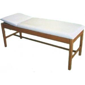 Εξεταστικό Κρεβάτι Ξύλινο Με Ίσιο Προσκέφαλο T2J Φυσικό Χρώμα Ξύλου